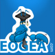 Aeogea logo design for education resource site