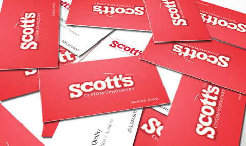 Business Card for Scott's Upholstery